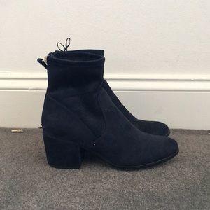 H&M Blue Suede Boots